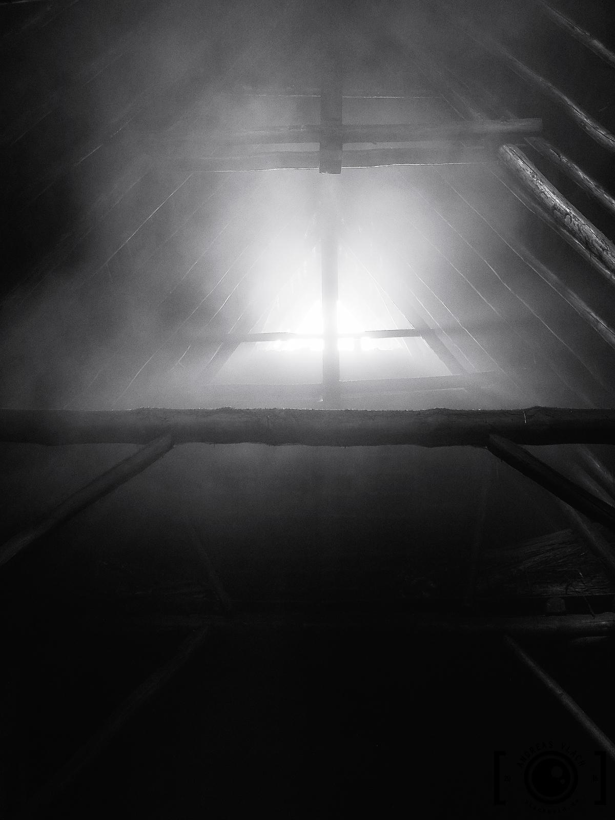 Licht, Balken, Kreuz, Haus